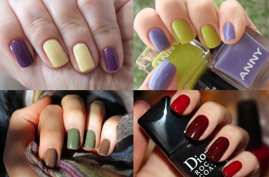 сочетание цветов лаков для ногтей фото фильме, как поле
