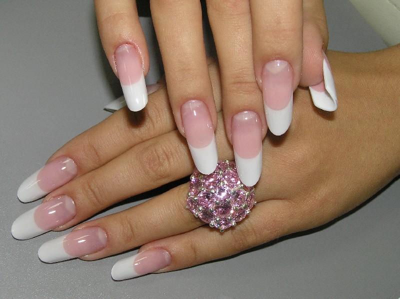 Фото нарощенных ногтей форм