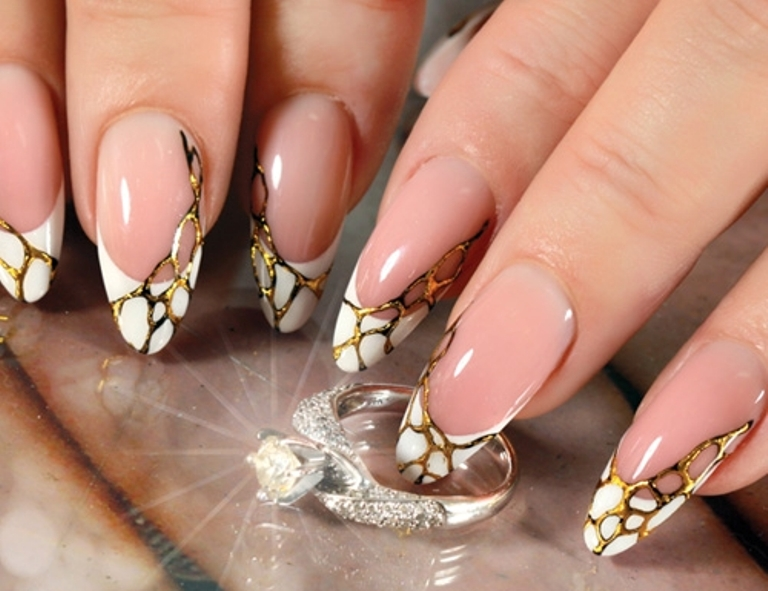 Литье фольгой ногти