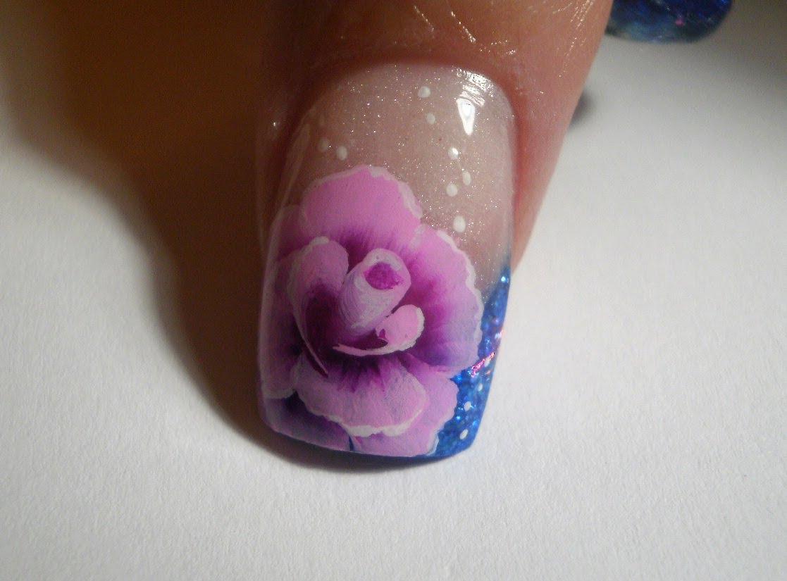 Розы на ногтях акрилом