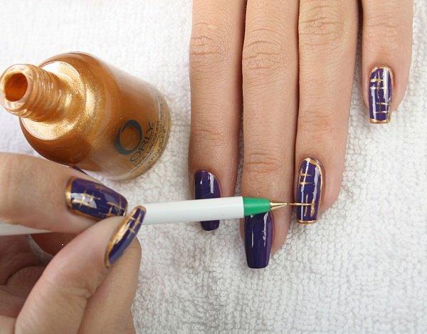 Простые узоры на ногтях своими руками сделанные