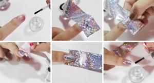 Как переводить фольгу на ногти