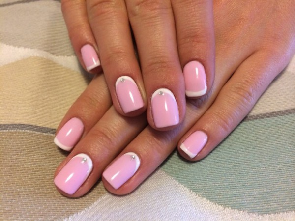 фото бело розовые ногти