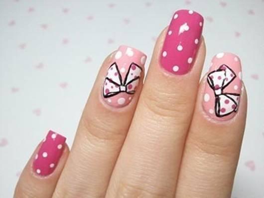 Бантики на ногтях пошагово и дизайн акрилом Смокинг 42