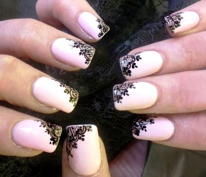 Кружева ногти дизайн
