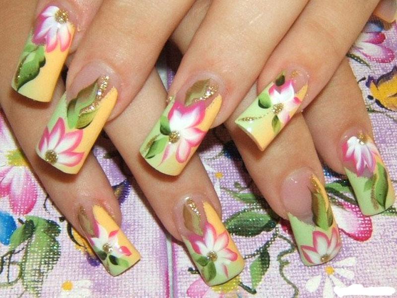 Фото ногтей рисунки акриловыми красками