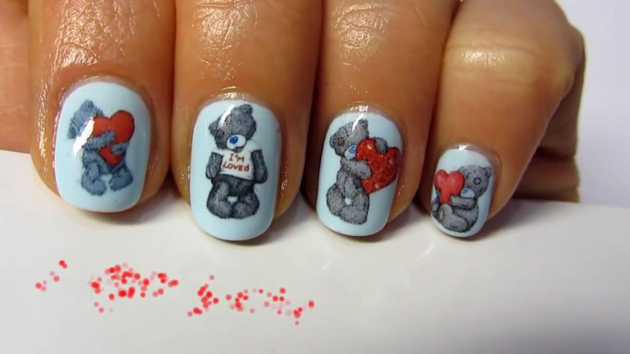 Мишки Тедди на ногтях: 40 идей урок - Красивые ногти