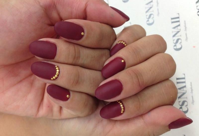 круглые ногти маникюр фото